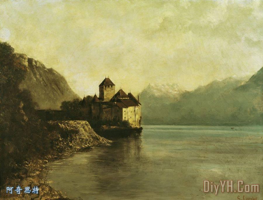 居斯塔夫·库尔贝西庸城堡装饰画