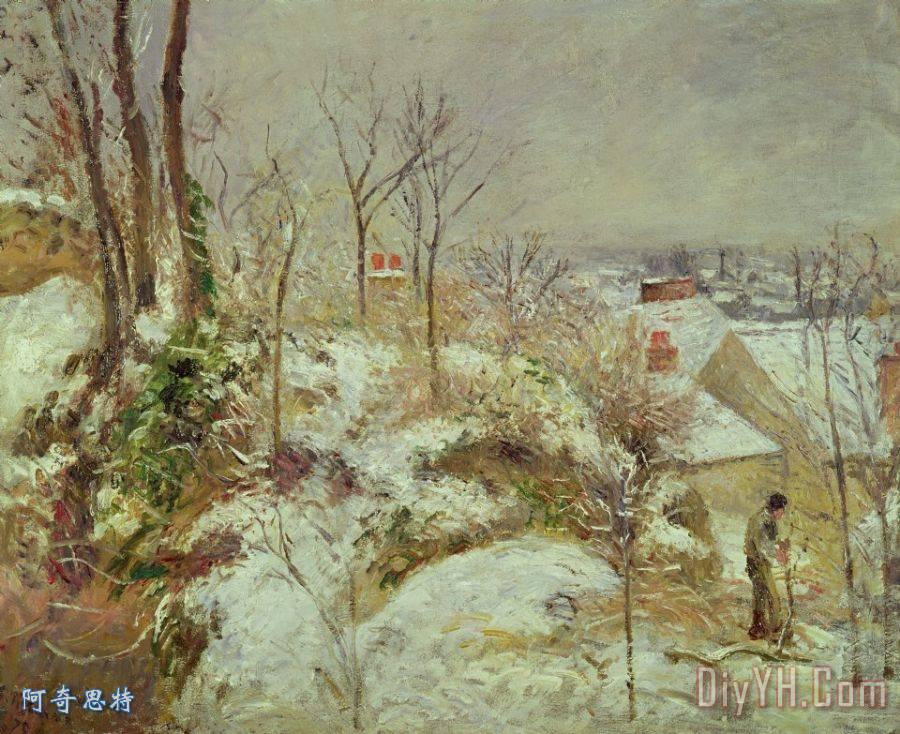 雪景装饰画_风景_印象派_印象派的_雪花_景色_图片