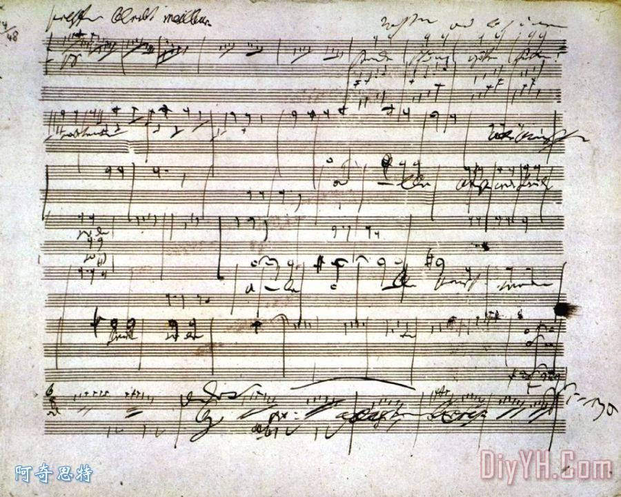 贝多芬手稿 - 贝多芬手稿装饰画