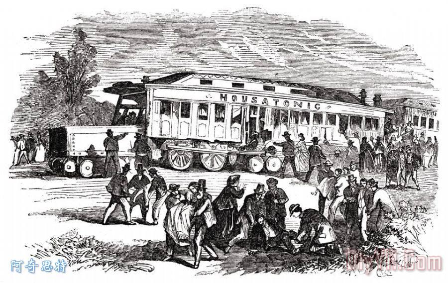 康涅狄格州:火车残骸 - 康涅狄格州:火车残骸装饰画