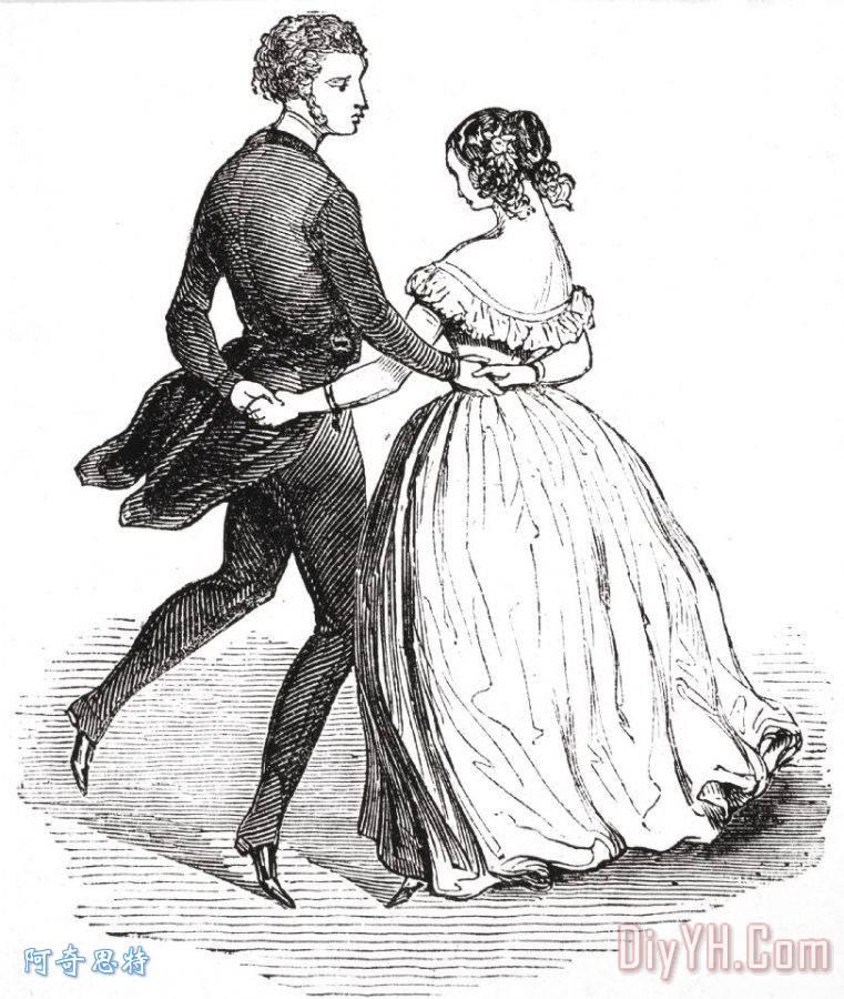 舞蹈手绘效果图