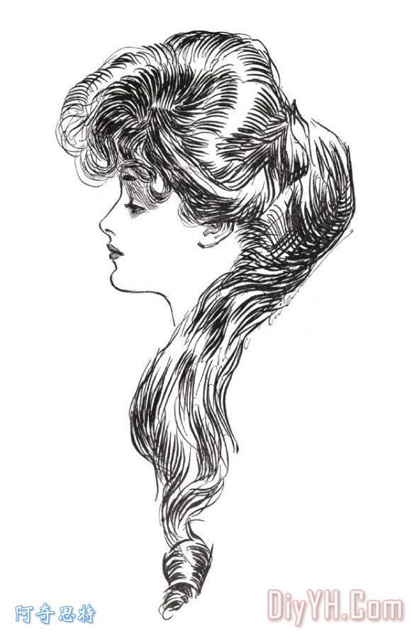 吉布森女孩, 1903装饰画_美国人_查尔斯_达纳_吉布森
