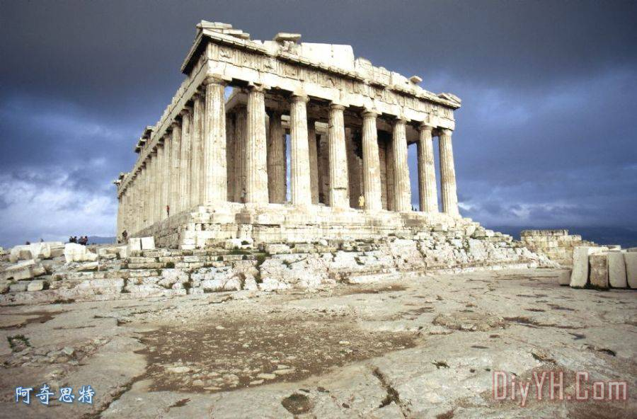 希腊:帕台农神庙装饰画_建筑_古代的_卫城_雅典_希腊