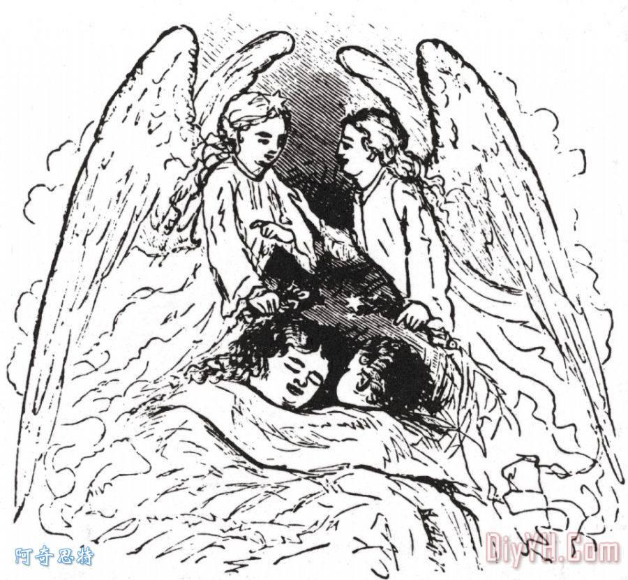 天使装饰画_人物_孩子_19世纪_美国人_图片大全