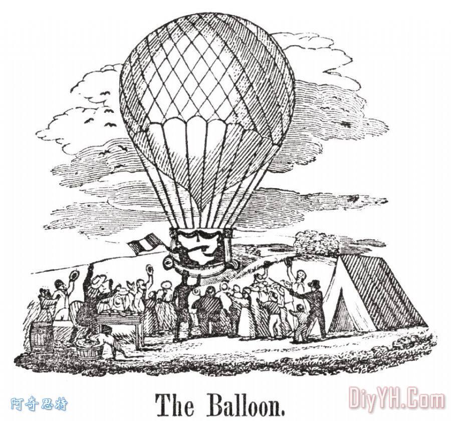 热气球 - 热气球装饰画图片