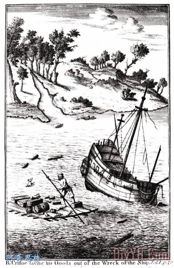 鲁滨逊漂流记装饰画 旋转木马集合 丹尼尔 克鲁索 迪福 鲁滨逊漂流记油画定制 阿奇思特