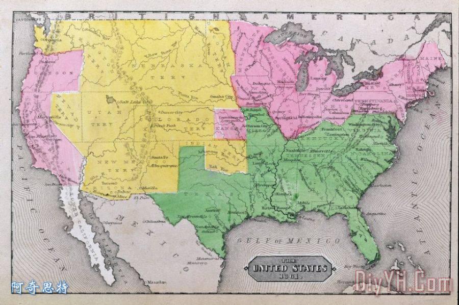 地图美国的装饰画_统一的