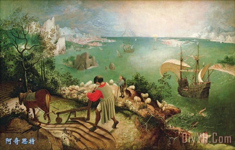 风景 经典的流派艺术 荷兰和佛兰德文艺复兴 风景和农民生活 伊卡洛