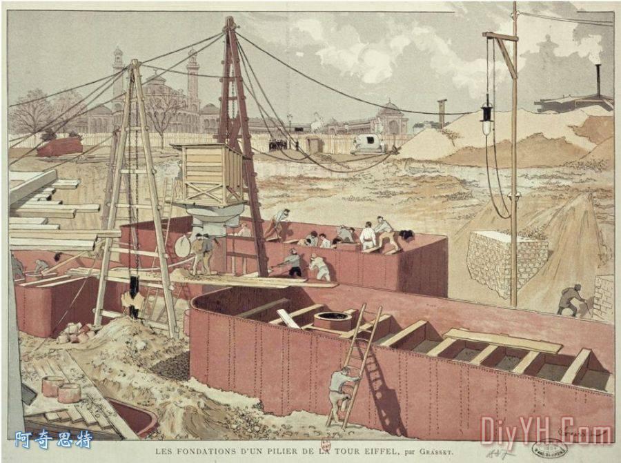 奠定了基础埃菲尔铁塔1887