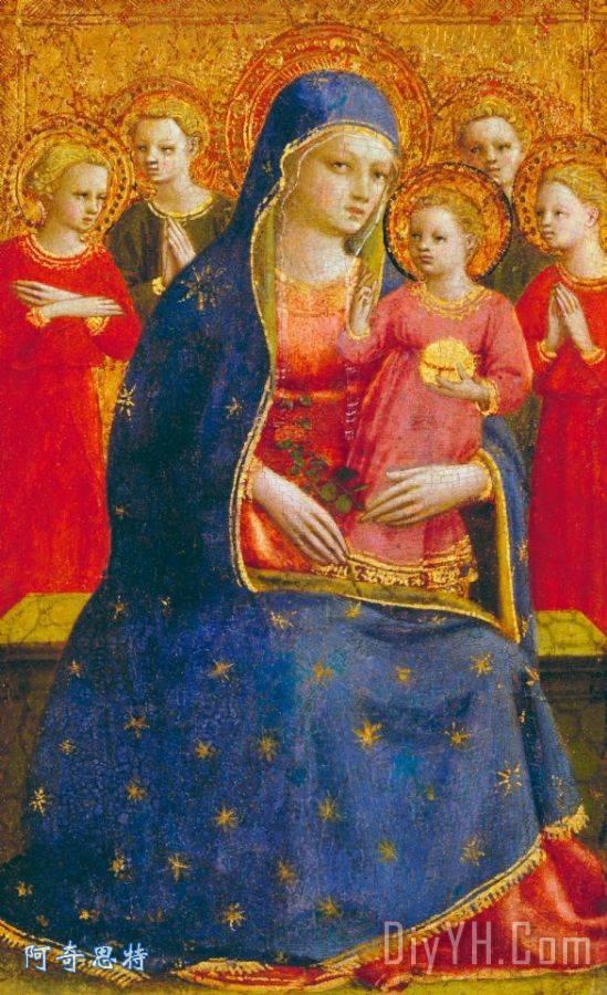 圣母子与天使 - 圣母子与天使装饰画