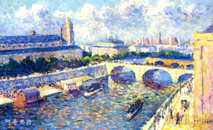塞纳河巴黎 塞纳河巴黎装饰画高清图片