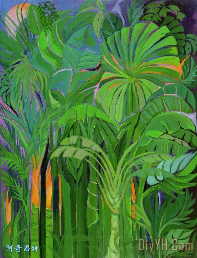 热带雨林马来西亚装饰画_风景_树木_热带的_植物的__.