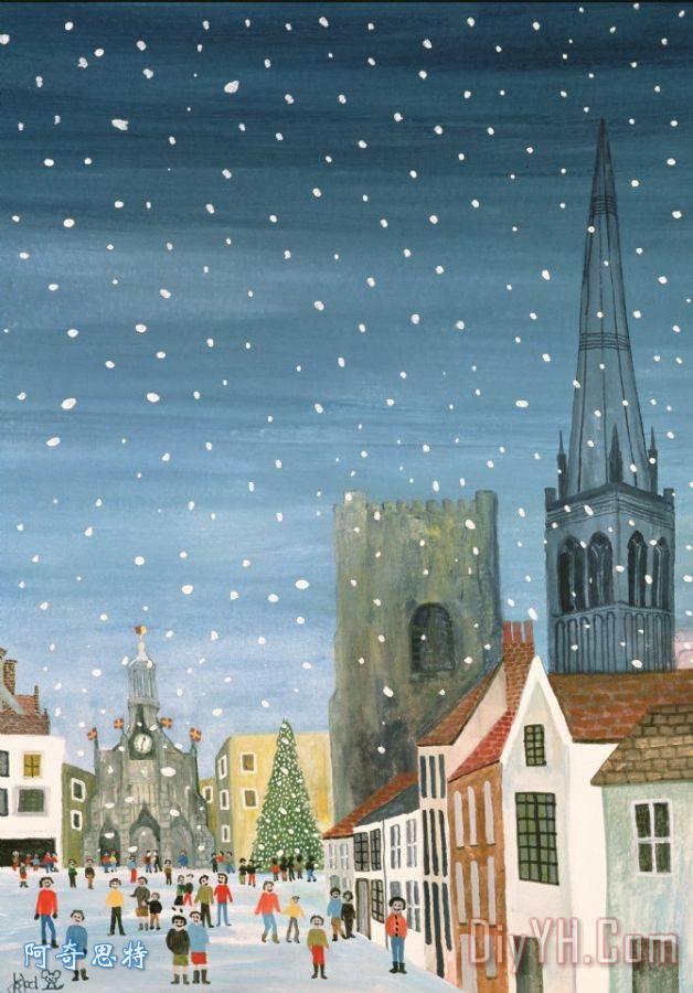 奇切斯特大教堂雪景