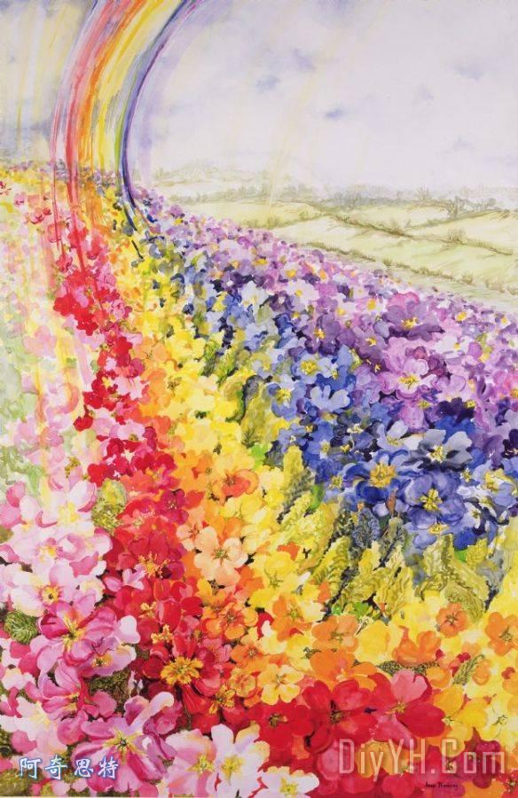 一年级彩虹画画图片