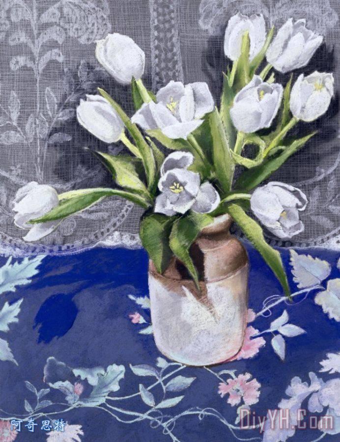欧式静物花卉蕾丝桌布