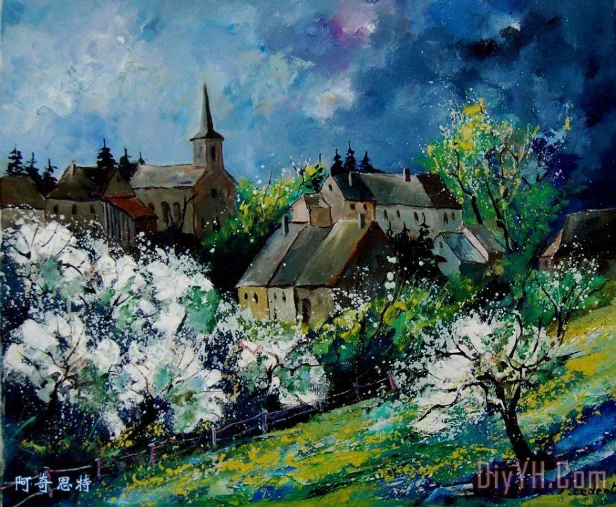 春天在仙子地区马尔什装饰画_风景_春天在仙子地区