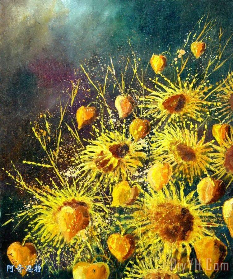凡高的向日葵儿童画