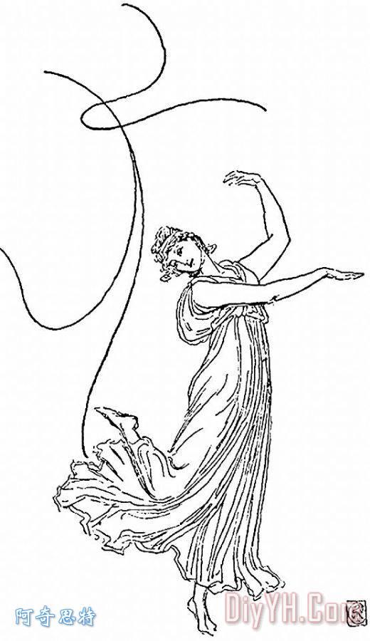 舞者图片卡通简笔画