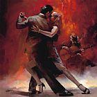 阿根廷探戈二舞蹈油画