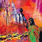 纽约印象装饰画