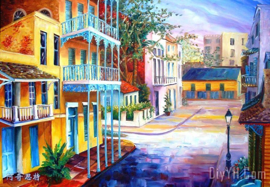 法国区日出装饰画_建筑_街道_城市风光照片_新奥尔良