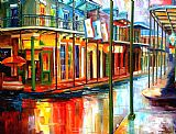 倾盆大雨的波旁街装饰画