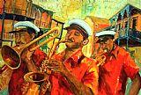 新奥尔良的铜管乐队装饰画