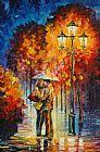 亲吻下过雨抽象装饰画