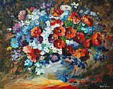 罂粟和矢车菊装饰画