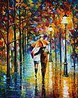 红伞之下印象装饰画