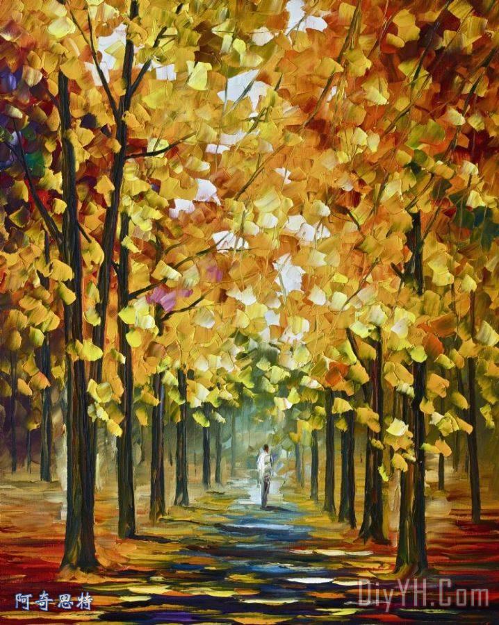 秋天的金装饰画_李奥尼德·阿夫列莫夫秋天的金_风景