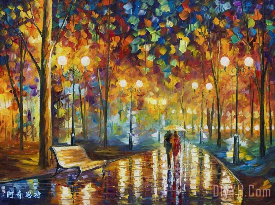 情侣漫步公园 - 李奥尼德·阿夫列莫夫情侣漫步公园装饰画