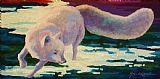 白狐沙发背景用画装饰画
