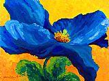 蓝罂粟装饰画