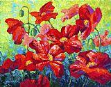 场的红色罂粟花二装饰画
