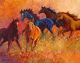 自由放牧场 - 野马古典风格装饰画