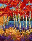 红桦树装饰画