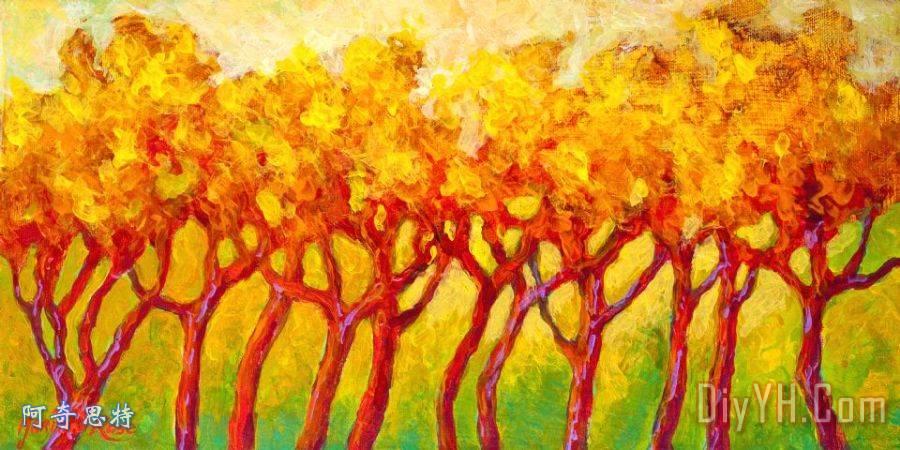 树线装饰画_风景_树木_风景优美的_山脉_树线油画定制