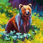 野花灰熊装饰画