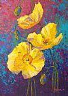 黄色的罂粟花装饰画