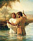 洗礼基督装饰画