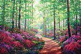 林地漫步花卉装饰画