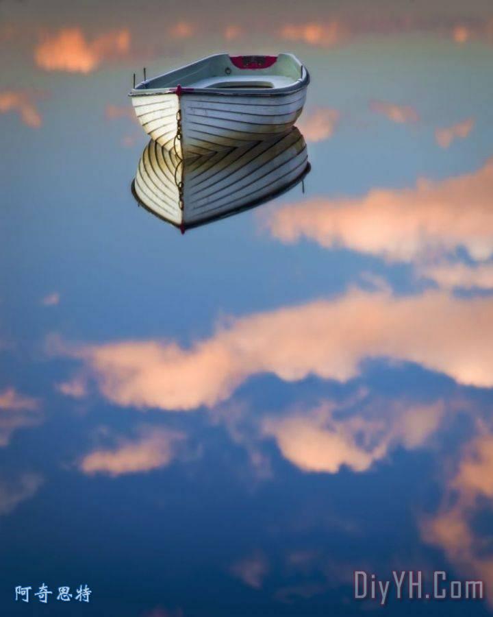 平静的湖面-天空之舟 - 平静的湖面-天空之舟装饰画