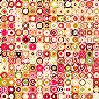 城市艺术 - 圆圈和方块21 。现代抽象艺术