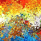 欢乐喜庆抽象装饰画
