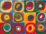 同心圆和色彩研究抽象装饰画