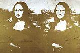 两个黄金蒙娜丽莎利莎装饰画