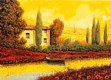 在日落的河装饰画