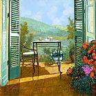 八九点钟的太阳美式田园风格油画