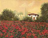 深红色 - 房子和罂粟